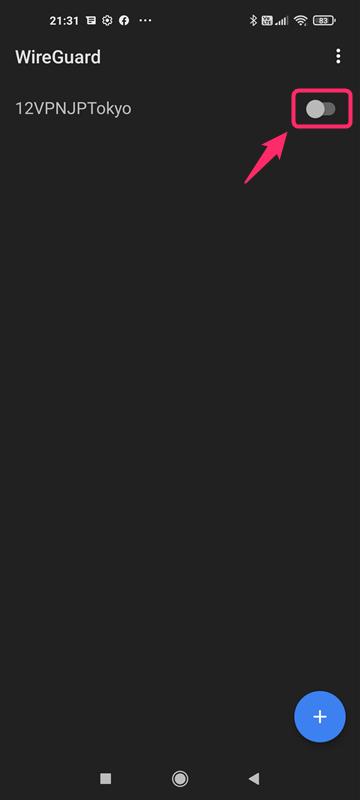 【Android・アンドロイド】12VPNのWireguardアプリでの設定方法・使い方